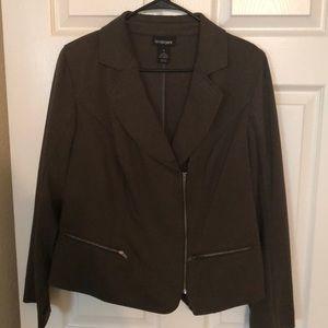 Lane Bryant size 16 olive green jacket